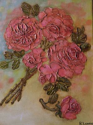 My Illustrations: Textured roses