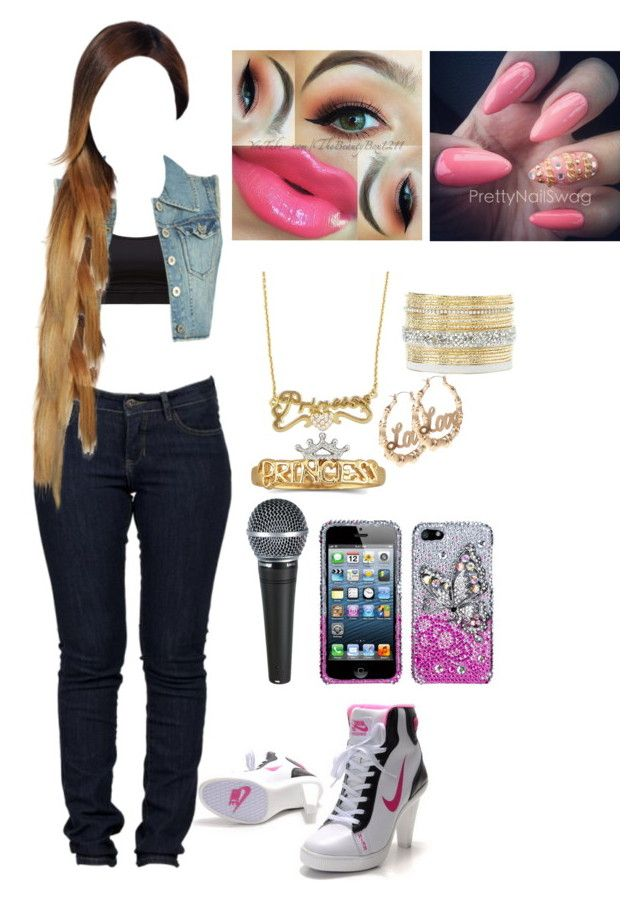 """ayye"" by usocrazygirl on Polyvore featuring NIKE, Wet Seal, Disney Couture, Disney and Charlotte Russe"