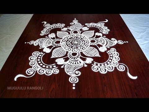 muggulu designs without dots || free hand rangoli designs || muggulu designs || kolam designs - YouTube
