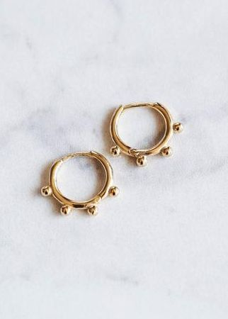 Etsy Simple Gold Hoop Earrings