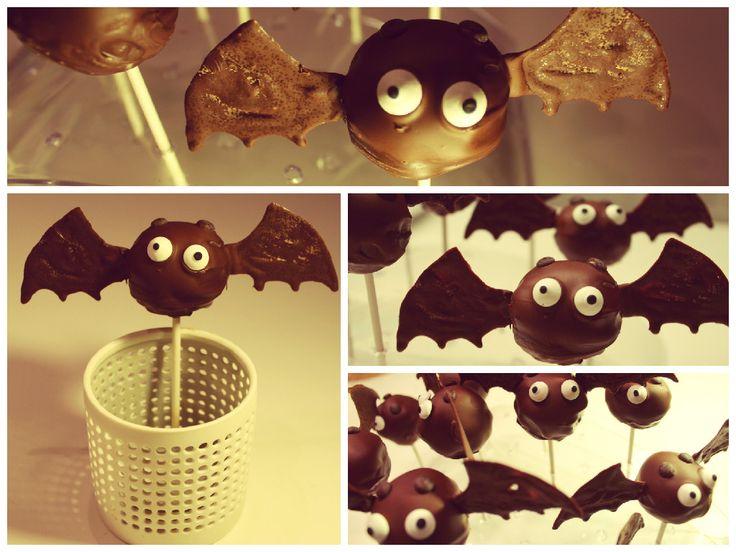 Schaurige Fledermaus Cake Pops!