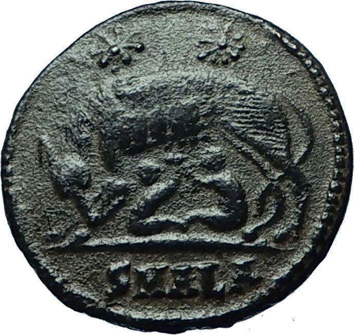 CONSTANTINE I the GREAT 330AD Romulus Remus WOLF Rome Ancient