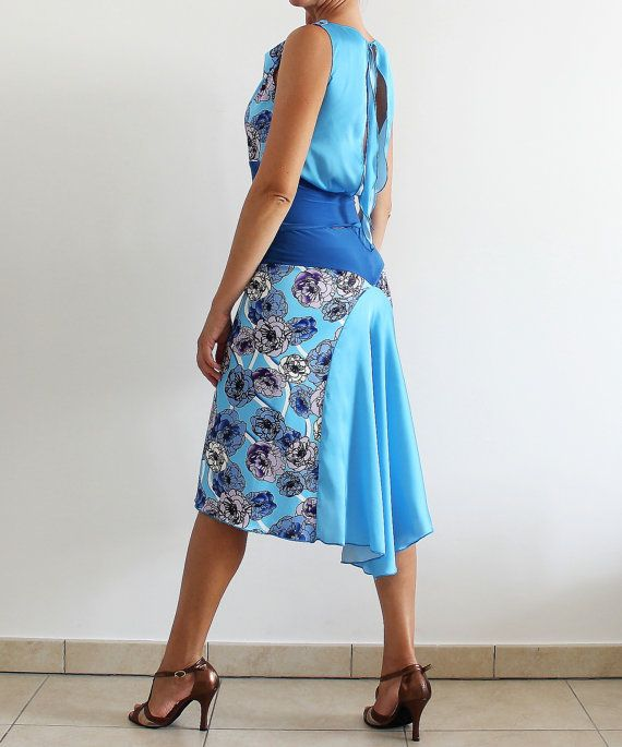 Sateen Top Argentine Tango Social Dance Party by CrinolinAtelier