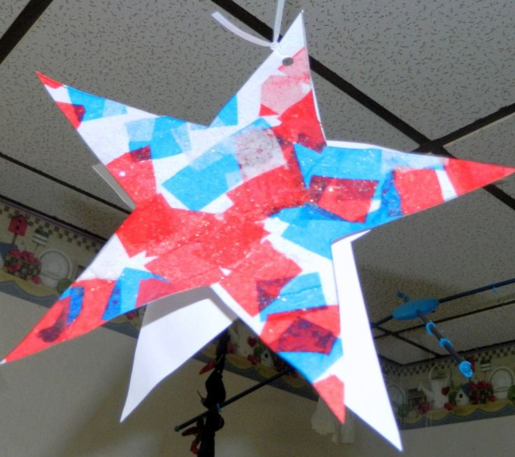 Last week I posted pictures of our fun little stars. Today, I am going to show you how to make them. First you need to print the PDF below on Cardstock, do not cut it out: Star for crafts.pdf…