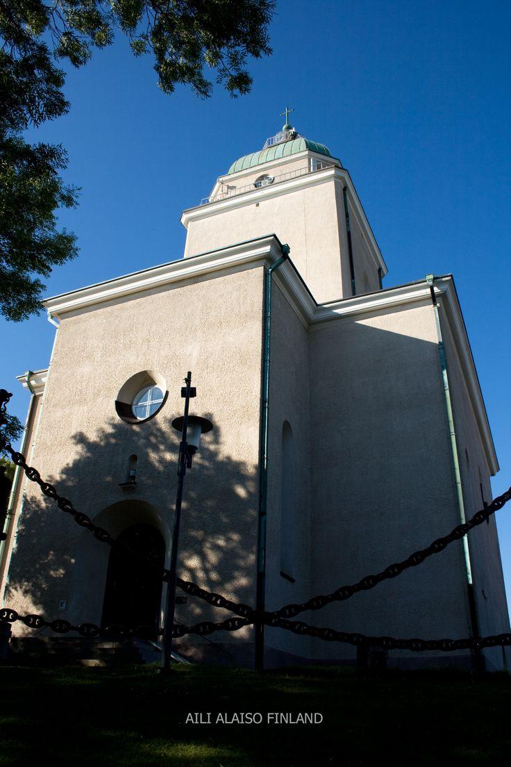 The Suomenlinna Churc , Suomenlinnan kirkko, Sveaborgs kyrka. 1854 In Suomenlinna, in Helsinki Finland by Aili Alaiso