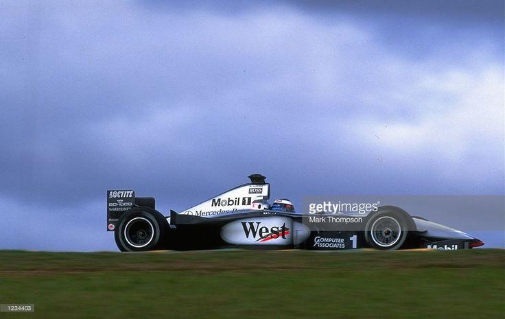 Mika Hakkinen of the McLaren-Mercedes team in action during the 1999 Brazilian Grand Prix held at the Interlagos Circuit in Sao Paulo, Brazil. Mika Hakkinen and the McLaren-Mercedes car went on to win the Grand Prix. \ Mandatory Credit: Mark Thompson /Allsport