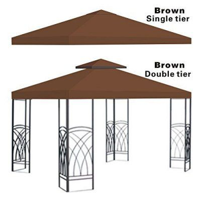 Sunrise 10 x 10 ft. Gazebo Replacement Canopy Cover Brown - G245-BROWN