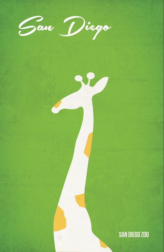 San Diego Travel Posters by Melissa Glaze, via Behance