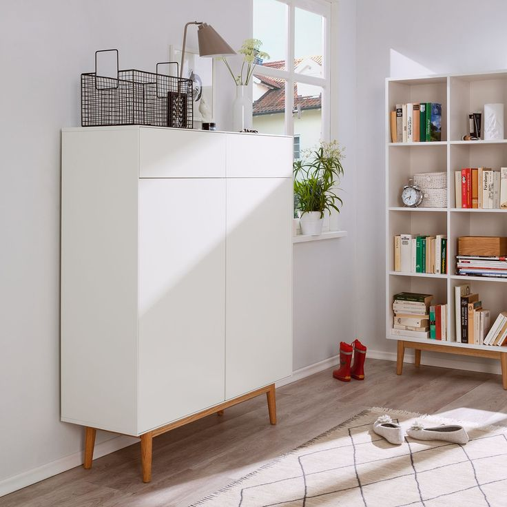 schuhschrank lindholm ii wei eiche massiv schuhschrank lindholm ii. Black Bedroom Furniture Sets. Home Design Ideas