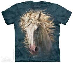 White Horse Portrait T-Shirt