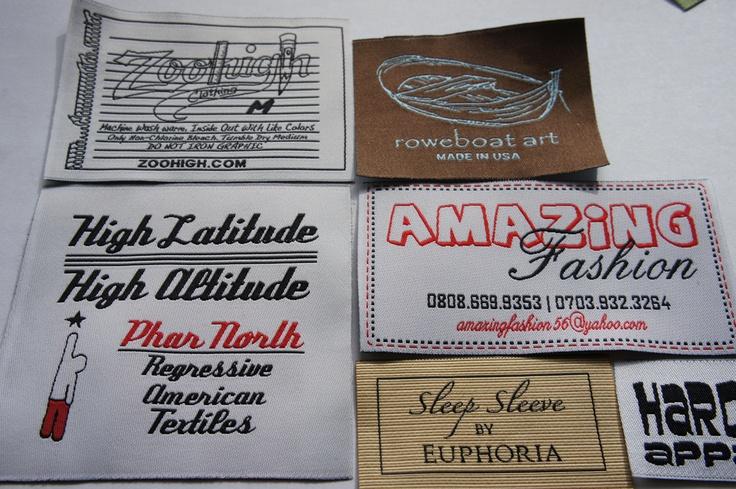 Damask labels - white loom  www.elitawovenlabels.com