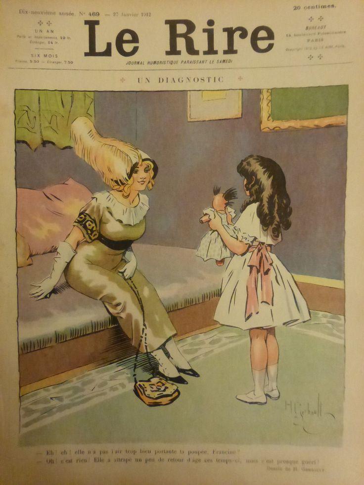 1912 DESSIN GERBAULT DIAGNOSTIC POUPEE MALADE FILLETTE PRESQUE GUERIE | Livres, BD, revues, Revues, Histoire et politique | eBay!