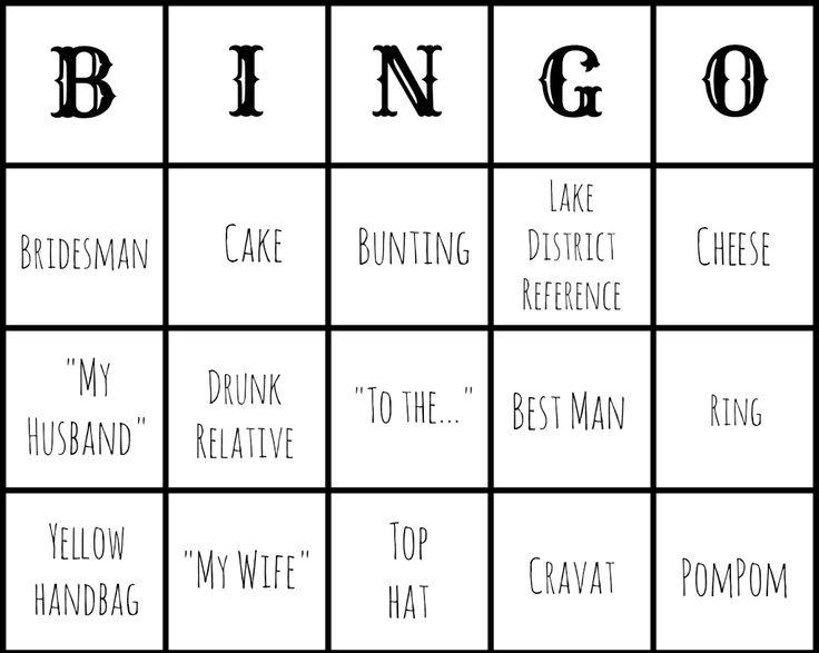 Make // Free Wedding Bingo Printout (and Epson XP212 review) | Make, Do & Push!