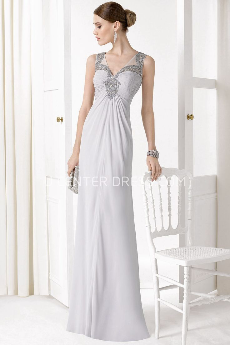 $109.69-Charming Sleeveless Ruched Sweetheart Chiffon White Prom Dress. http://www.ucenterdress.com/sleeveless-ruched-v-neck-chiffon-prom-dress-pMK_300850.html.  Shop for cheap prom dresses, party dresses, night dresses, maxi dresses, little black dresses, junior prom dresses, girls prom dresses, designer prom dresses for sale. We have great 2016 prom dresses on sale. Buy prom dresses online at UcenterDress.com #prom #dress today!