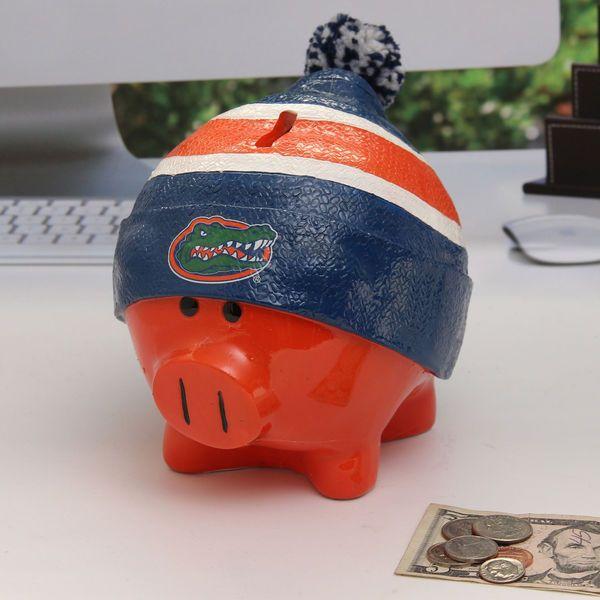 Florida Gators Large Piggy Bank With Hat - $18.99