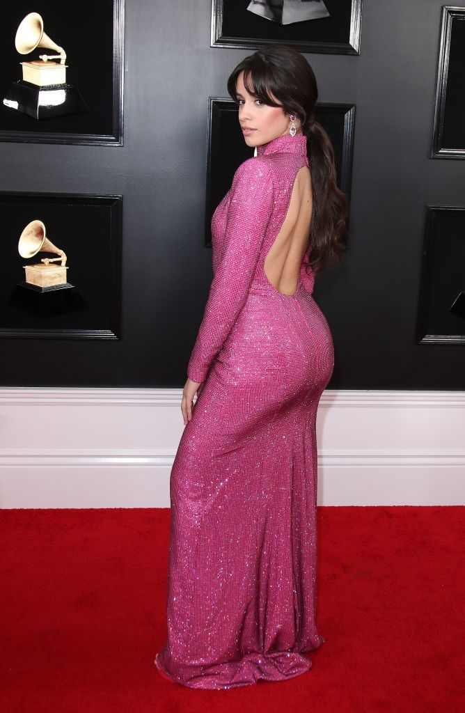 camila cabello attends the 61st annual grammy awards at staples grammy dresses celebrity dresses red carpet dresses 61st annual grammy awards