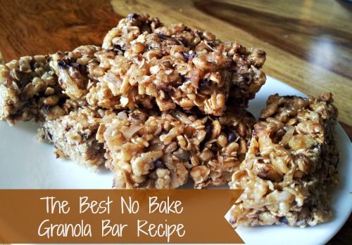 No Bake Granola Bar Recipe #shop #BTSIdeas http://momalwaysfindsout ...