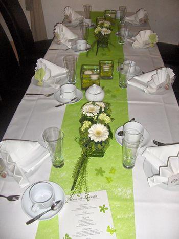 Tischdeko Blumen  Hochzeit  Tischdeko hochzeit