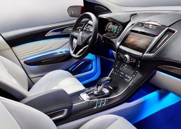 2013 Ford Edge Luxury Dashboard 600x429 2013 Ford Edge Full Reviews with Images