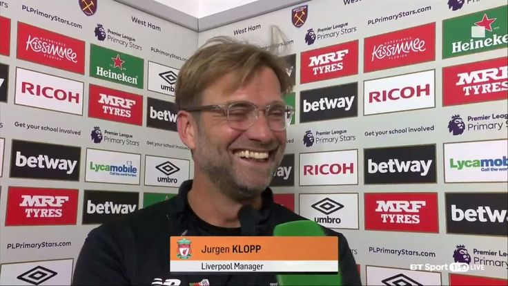 """cool Interviewer: """"You said Mane may be ready for 20 minutes..."""" Jürgen Klopp: """"Bilić said Andy Carroll will start..."""""""