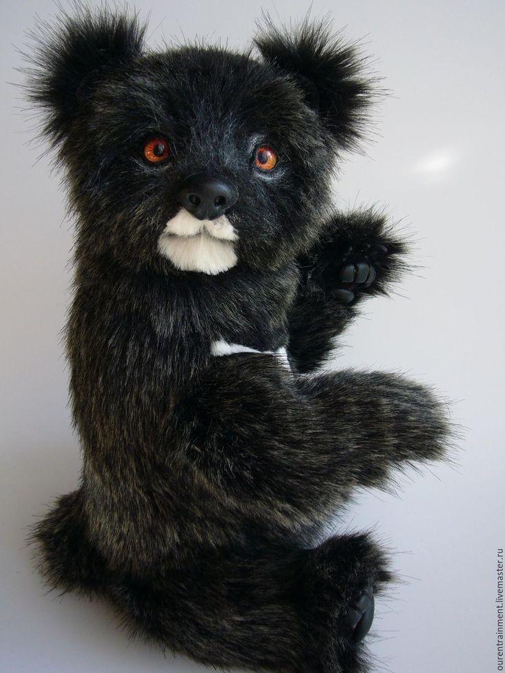 Купить Медведь Балу (35 см) - черный, медведь, мишка тедди, мишка ручной работы