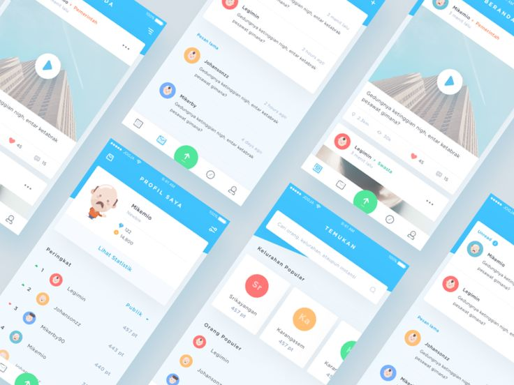 More screens of Qlue App redesign which I did for practicing my visual skill :)
