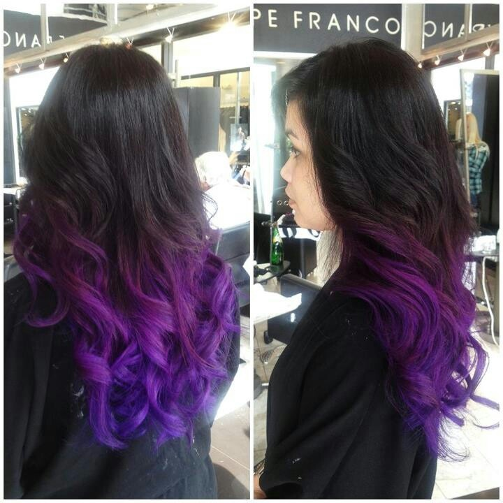 black violet ombre hair - photo #40