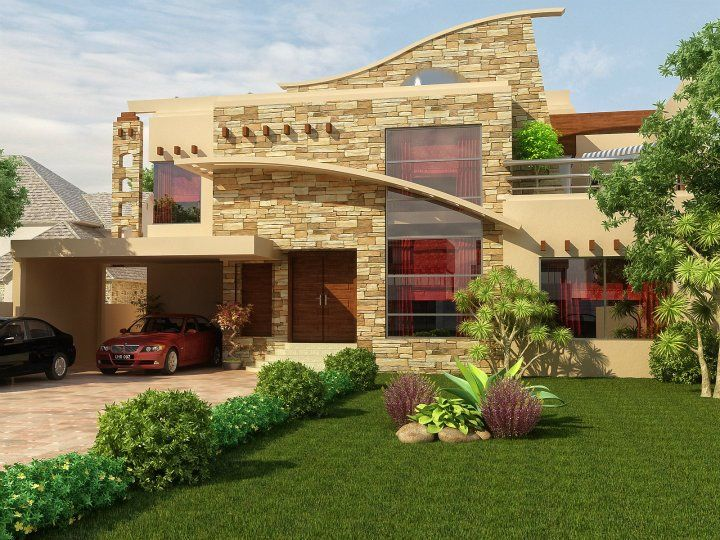 1 kanal house design pakistan exterior pinterest for Pakistani new home designs exterior views