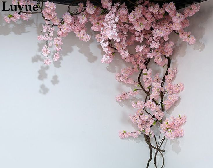 Artificialflowers New Deals Of 5 Pieces Branch Artificial Flowers Cherry Blos Blossom Tree Wedding Flower Wall Decor Blossom Trees