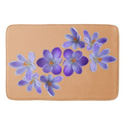 Purple crocuses 02.12 bathroom mat - purple floral style gifts flower flowers diy customize unique