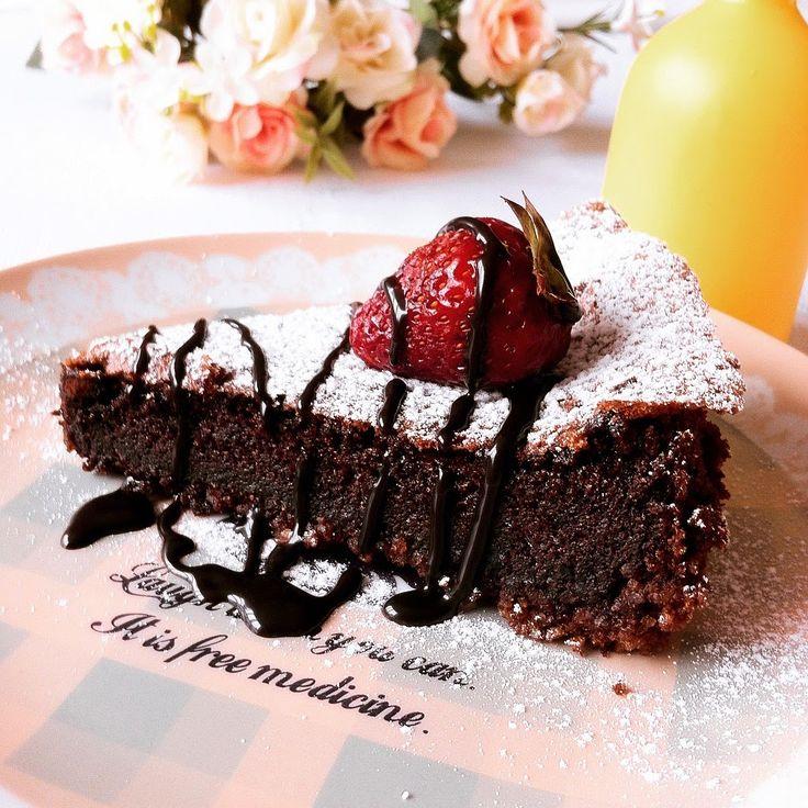 Miss Kekik: Badem Unlu Çikolatalı Kek - Torta Caprese