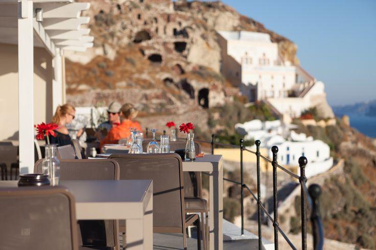 Good Food Great View Amazing Mood #EsperasHotel #Santorini #Oia #Restaurant