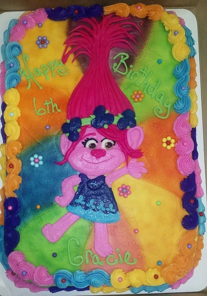 Trolls cake, Princess Poppy