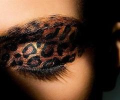 Leopard makeup EYES EYESHADOW LEOPARD CUTE ANIMAL PRINT MAKEUP EYEMAKEUP