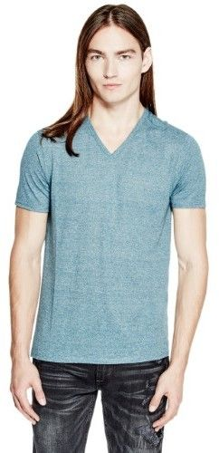 GUESS Men's Lash Jersey V-Neck Tee
