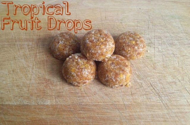 Tropical fruit drops, made from dried fruit and nuts. So healthy you won't believe they taste so good. @MrsUMakes