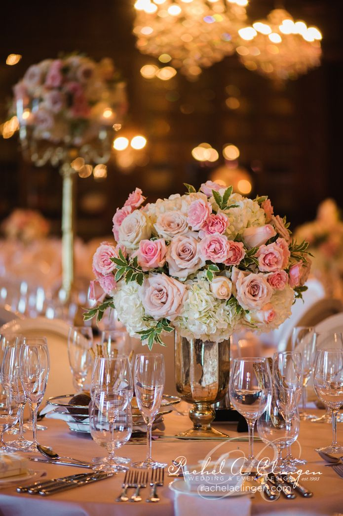 Pink wedding flowers toronto centrepieces by rachel a for Wedding reception centrepieces