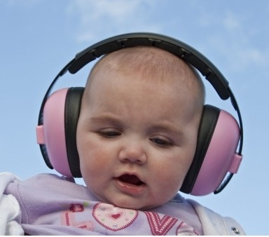 Loving these baby ear defenders for summer festivals!  Got them and they actually keep them on and they work great
