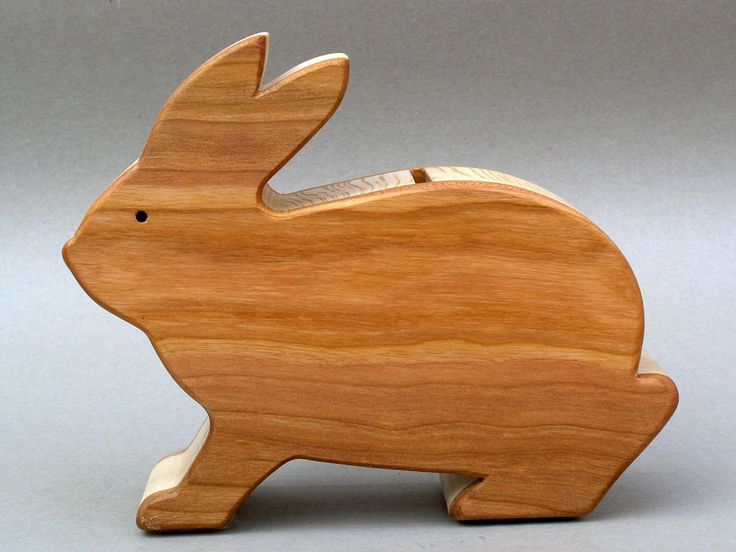 Wooden Rabbit Piggy Bank  Bunny Coin Bank for Children Boys and Girls Savings Bank Baby Shower Gift. $18.95, via Etsy.
