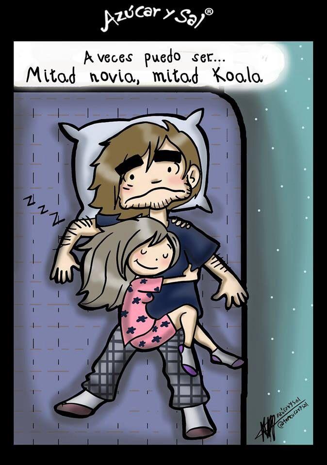 Dormir abrazaditos