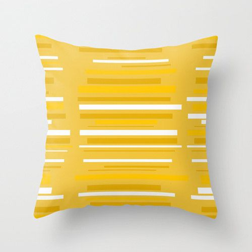 Yellow Outdoor Pillow,Cool Outdoor Pillow, Mod Pillow, Modern Outdoor Pillow  This outdoor pillow will add a splash of color to your porch,