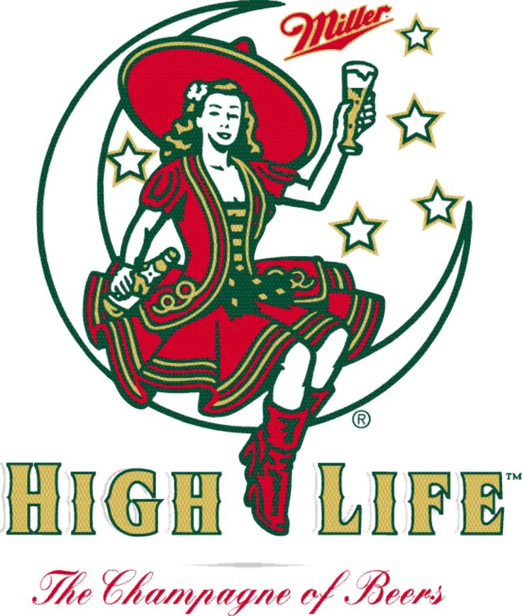 High Life girl on the moon siren logo