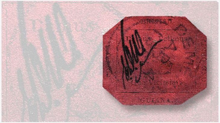 British Guiana 1¢ Magenta to be displayed at World Stamp Show – NY 2016