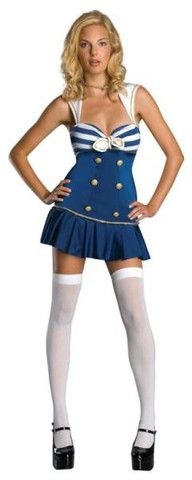 """Anchors Away"" Adult Costume at www.bestcouplecostumes.com #sailor #costumes"