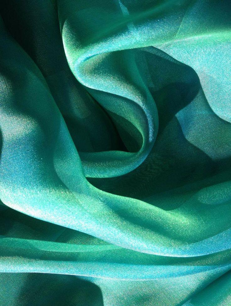 Iridescent silk chiffon fabric