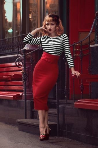 Glamour Bunny Sylvia Red White Striped Top 110 27 13907 20141024 0010W