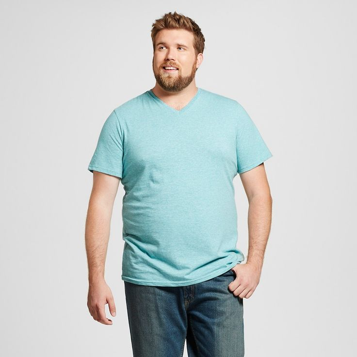 Men's Big & Tall V-Neck T-Shirt Teal (Blue) Xxxlt - Mossimo Supply Co., Size: Xxxl Tall
