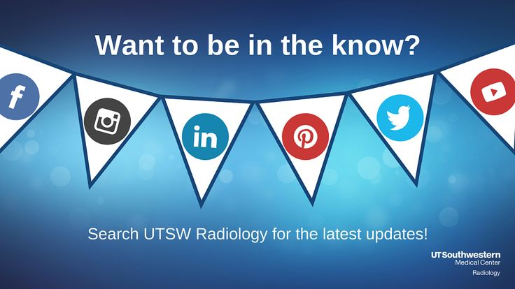 We are live at RSNA! Be sure to follow our other accounts for the latest updates including upcoming UT Southwestern speakers and poster presentations.