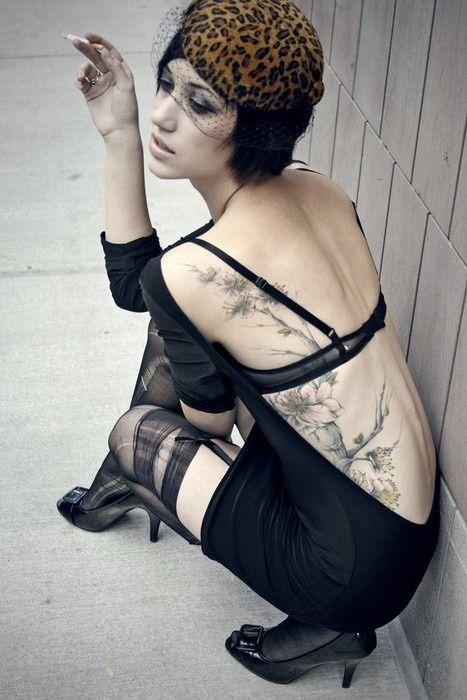 flower side tattoo