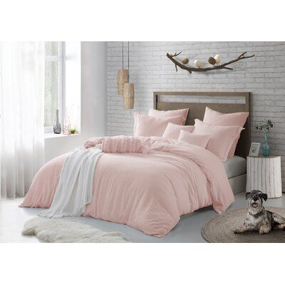 The Twillery Co Akins Duvet Cover Set Size Twin Twin Xl Duvet Cover 1 Pillowcase Color Light Pink Duvet Cover Sets California King Duvet Cover Duvet Sets